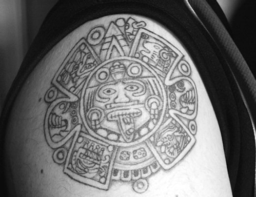 Tags:Black Ink,Black Tattoos, Inca, Inka Eagle. Tags: lion
