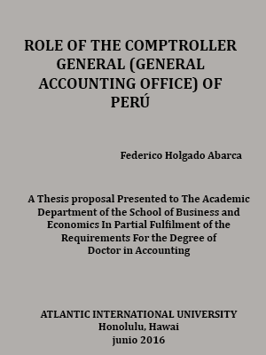 ROLE OF THE COMPTROLLER GENERAL (GENERAL ACCOUNTING OFFICE) OF PERÚ